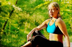 Young Woman Working Out Royalty Free Stock Image