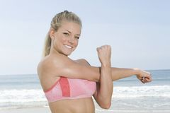 Young Woman Working Out Aerobics Royalty Free Stock Photos