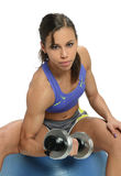 Young woman working out Stock Images