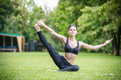 Young woman working out outdoors Stock Image