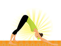 Young woman working out yoga so called Royalty Free Stock Photos