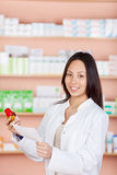 Young woman working in a pharmacy Royalty Free Stock Photo