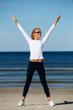 Young woman workout Royalty Free Stock Image