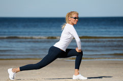 Young woman workout Stock Images
