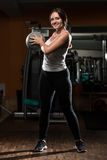 Young Woman Workout With Medical Ball Royalty Free Stock Images