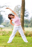 Young woman workout outdoors Royalty Free Stock Images