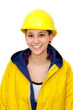 Young woman in workwear Royalty Free Stock Photo