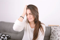 Young woman worried. Royalty Free Stock Photography