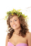 Young woman with a wreath Stock Image