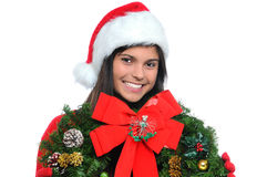 Young Woman with Wreath Stock Photos
