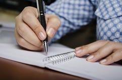 Writing success Stock Photos