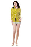 Young woman in yellow jacket Stock Photography