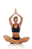 Young woman during a Yoga session Royalty Free Stock Photo