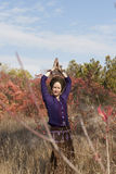Young woman yogi Stock Image