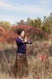 Young woman yogi practicing Stock Photos