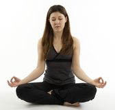 Young woman in  Zen Yoga post Stock Photos