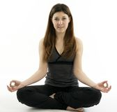 Young woman in  Zen Yoga post Royalty Free Stock Photo