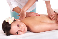 Young womanl having thai massage. Stock Images