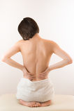 Young womans back Royalty Free Stock Images
