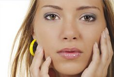 Young womans face Royalty Free Stock Photos