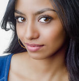 Young womans face smiling Stock Photos