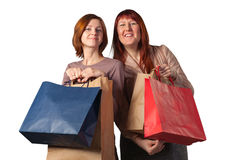 Young womans after shopping. Stock Photography