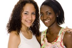 Young Women. Two young women of different races Stock Photos