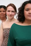 Young Women. Image of three young women of different race, conceptual diversity and beauty royalty free stock image