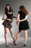 Young women argue Stock Photos