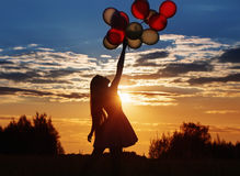Young women with balloons Stock Photography