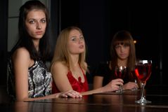 Young women in a bar Stock Photography