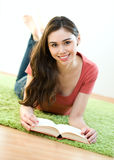 Young women with book Royalty Free Stock Image