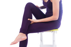 Young women calf pain Stock Images
