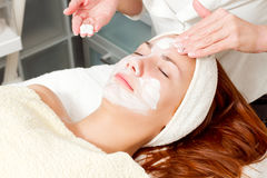 Woman at beauty salon Royalty Free Stock Image