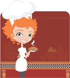Young women cooking Royalty Free Stock Photos