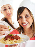 Young women cooking Royalty Free Stock Photo