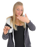 Young women with credit card Royalty Free Stock Photo