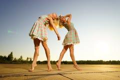 Young women dancing Royalty Free Stock Photo