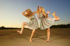 Young women dancing Stock Image