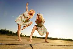 Young women dancing Stock Photo