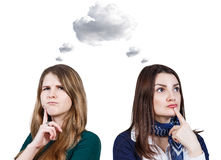 Free Young Women Daydream Royalty Free Stock Photography - 68690307