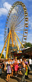 Bavarian folk fair ferris wheel Stock Image