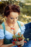 Young women in dirndl Stock Photos