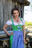 Young women in dirndl Royalty Free Stock Photo