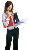 Young women with a documents Royalty Free Stock Photography