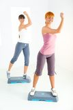 Young women doing fitness exercise Royalty Free Stock Photos