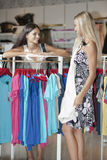 Young women doing shopping Stock Photos