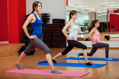 Young women doing some cardio Royalty Free Stock Images