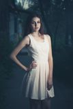 Young women in dress old photo stylized Royalty Free Stock Photography