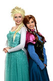 Young Women Dressed in Princess Oufits stock photos